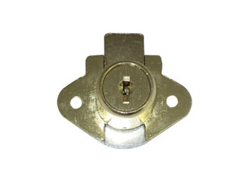 CCL Brass, Satin (Coated) Cabinet Drawer/Door Lock Product Number: 02067-7/8-4