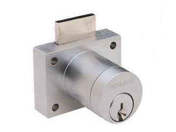 Schlage Chrome, Satin Cabinet Drawer/Door Lock Product Number: CL200PB 626