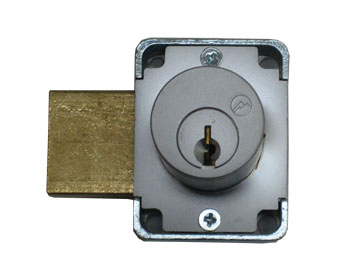"Olympus Lock Chrome, Satin Cabinet Drawer/Door Lock Product Number: 100DR 7/8""26D"