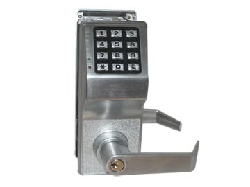 Alarm Lock Chrome, Satin Electronic Lockset Product Number: DL2700WP/26D