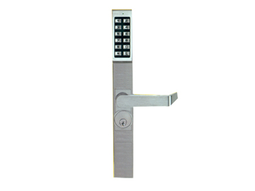 Alarm Lock Chrome, Satin Electronic Lockset Product Number: DL1300/26D1