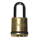 Schlage Brass, Satin (Coated) Keyed Padlock Product Number: KS43F3200