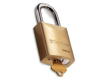 "Master Lock Brass, Satin (Coated) Keyed Padlock Product Number: 6842 SCH""C-L"""