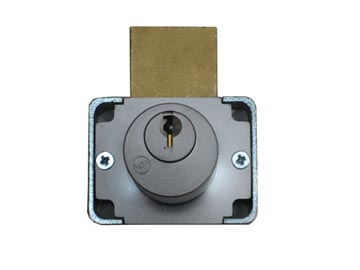 "Olympus Lock Chrome, Satin Cabinet Drawer/Door Lock Product Number: 200DW 7/8""26D"