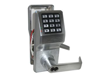 Alarm Lock Chrome, Satin Electronic Lockset Product Number: DL2700WPIC/26D