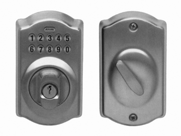 Schlage Brass, Antique Electronic Lockset Product Number: BE365 PLY 609