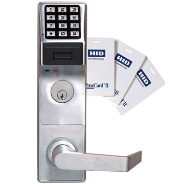 Alarm Lock Chrome, Satin Electronic Lockset Product Number: DL6500CRR/26D