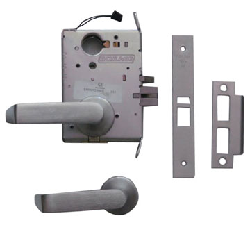 Schlage Chrome, Satin Electrified Lock Product Number: L9092LEU 06A 626 CON