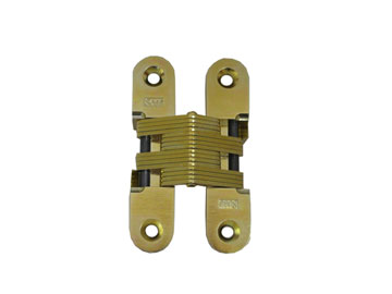 SOSS Invisible Hinges Brass, Satin (Coated) Door Hinge Product Number: 216US4