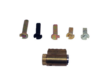 Schlage Brass, Satin (Coated) Cylinder Product Number: 40-100E 606