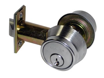 Schlage Chrome, Satin Deadbolt Lock Product Number: B252PD 626